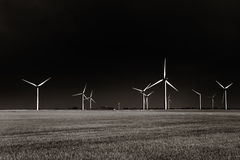 Windpark Stockfoto