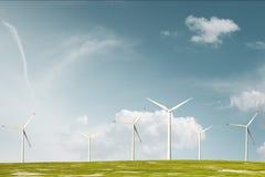 Windpark against sky Stock Images