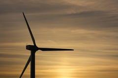 Windpark against sunset sky Royalty Free Stock Photos