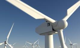 Windpark con i windwheels Fotografie Stock