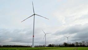Windpark in Deutschland stock video footage