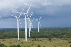 Windpark in Estland Stockbilder