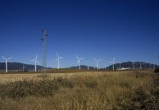 Windpark Tahivilla Espagne photo libre de droits