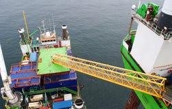 Windpark voor de kust Royalty-vrije Stock Afbeeldingen