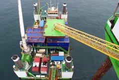 Windpark voor de kust Stock Afbeeldingen