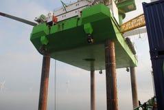 Windpark voor de kust Royalty-vrije Stock Foto's