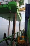 Windpark voor de kust Stock Fotografie