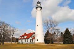 Windpoint-Leuchtturm in Racine, Wisconsin stockbilder