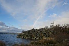 Windpower στη παραλιακή περιοχή Στοκ φωτογραφία με δικαίωμα ελεύθερης χρήσης