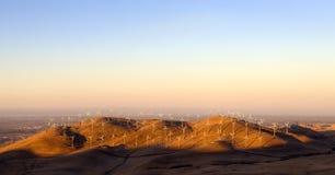 Windpower em Califórnia imagem de stock