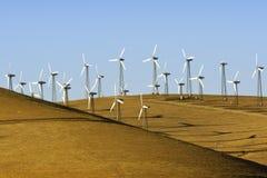 Windpower i Kalifornien Arkivfoto