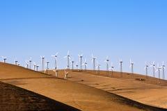 Windpower i Kalifornien Arkivbilder
