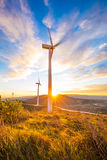 Windpower sunset Stock Photos