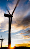 Windpower sunset Royalty Free Stock Photo