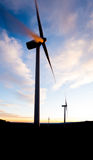 Windpower sunset Stock Photo