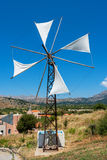 Windpump. Crete, Greece Stock Photo