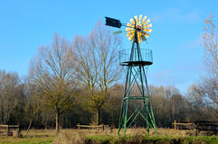 Windpump in a field Royalty Free Stock Image