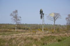 Windpump on the Somerset Levels Royalty Free Stock Photography