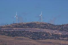 Windräder von Kreta/von Griechenland Lizenzfreie Stockfotografie