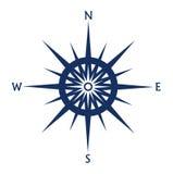 Windroospictogram op wit wordt geïsoleerd dat Royalty-vrije Stock Afbeelding