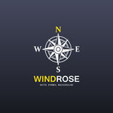 Windrose company symbol Stock Photography