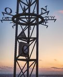 Windrose in der Nordsee lizenzfreies stockfoto