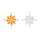 Windrose gray and orange Stock Image
