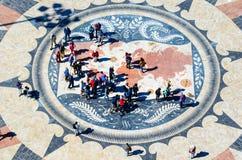 Windrose in Lissabon- oder Rosa-DOS-ventos Lizenzfreies Stockbild