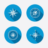 Windrose navigation icons. Compass symbols Royalty Free Stock Photo