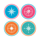 Windrose navigation icons. Compass symbols. Royalty Free Stock Photography