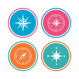 Windrose navigation icons. Compass symbols. Royalty Free Stock Images