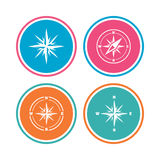 Windrose navigation icons. Compass symbols. Stock Image