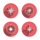 Windrose navigation icons. Compass symbols Stock Image