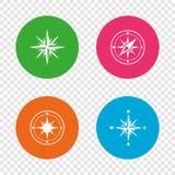 Windrose navigation icons. Compass symbols. Stock Photo