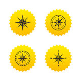 Windrose navigation icons. Compass symbols. Stock Photos