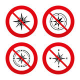 Windrose navigation icons. Compass symbols Stock Photography