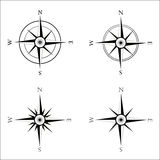 Windrose navigation symbol Stock Photo