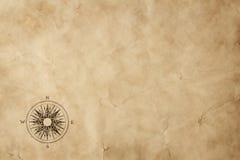 Windrose sul vecchio documento del grunge con lo spazio della copia Immagine Stock Libera da Diritti