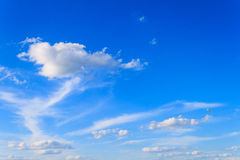 Winds blow high-altitude clouds Stock Photo