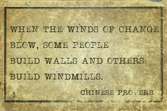 Winds of change CP Royalty Free Stock Image