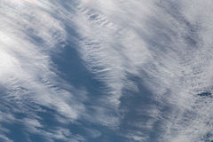 Winds. Clouds over sky texture background, image over the island of Mallorca in Spain Stock Images