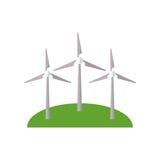 Winds turbine energy air. Illustration eps 10 Royalty Free Stock Photography