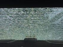 Windscreen broken. The rear windscreen broken Stock Photos