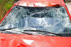 Windscreen crash Royalty Free Stock Photo