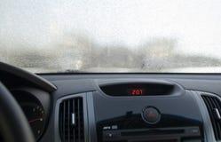 Windscreen Frosen автомобиля Стоковое Изображение