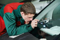 Windscreen repair Royalty Free Stock Photo