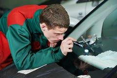 Windscreen repair Royalty Free Stock Photo