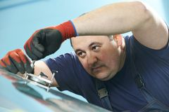 Windscreen repair Royalty Free Stock Photography