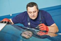Windscreen repair Royalty Free Stock Images