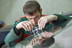 Windscreen repair Royalty Free Stock Image
